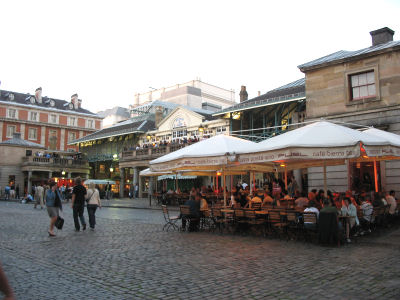 A street cafe at Covent Garden.