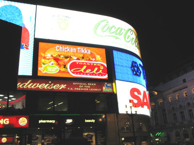 Signs at Picadilly Circus
