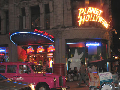 Planet Hollywood at Picadilly Circus