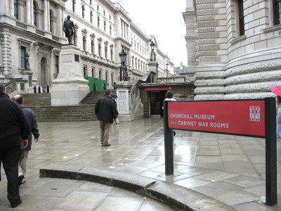 Entrance to the Churchill Museum and Cabinet War Rooms